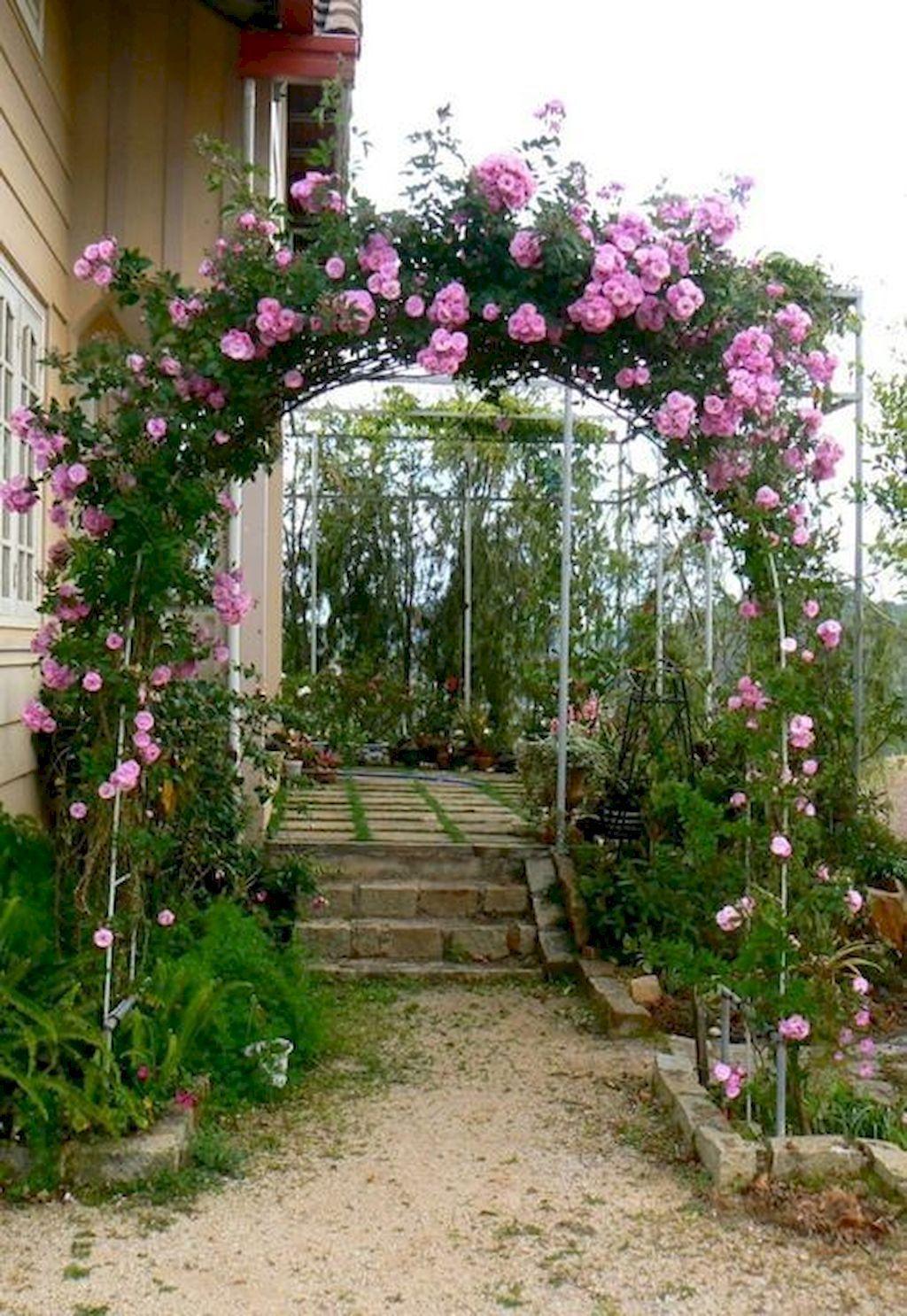Gorgeous 80 Affordable Backyard Vegetable Garden Design Ideas Https Homespecially Com 80 Affordable Ba Rose Garden Design Vegetable Garden Design Garden Arch