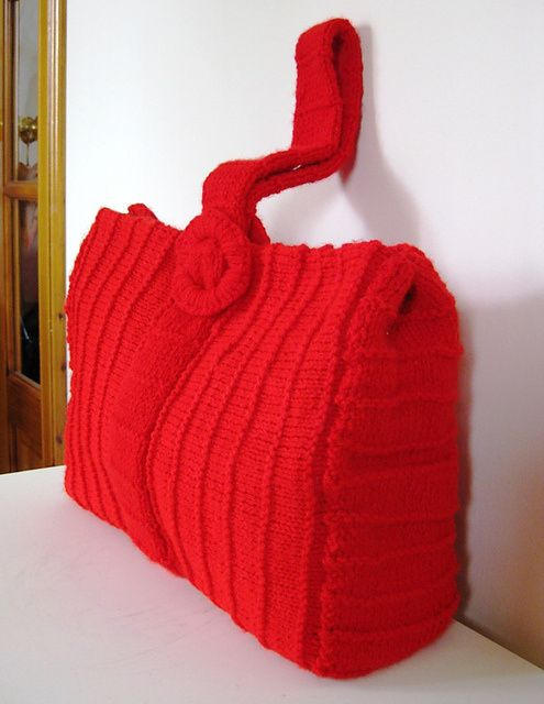 Bag Purse And Tote Free Knitting Patterns Knit Patterns Knitted