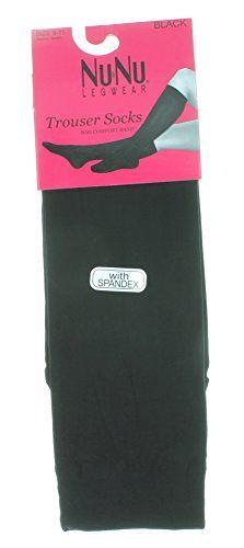e16c8a227 NuNu 6 Pairs NuNu Legwear Solid Black Women s Trouser Knee High Socks Size  9-11