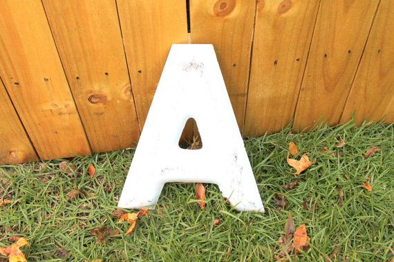 Letter A  Metal Industrial Letters  Recycled by RecycledSalvage, $25.00
