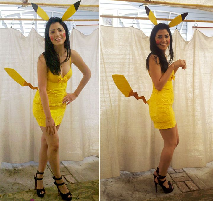 20 Pokémon Costumes for Halloween - Girls Pikachu costume made with duct tape!  sc 1 st  Pinterest & 20 Pokémon Costumes for Halloween That Are Super Effective and Super ...
