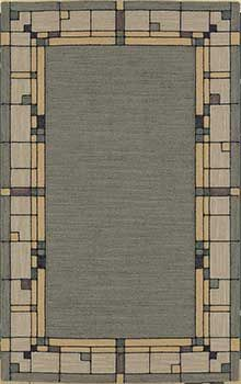 Clic And Beautiful Gl Block Mission Style Rug Design Craftsman