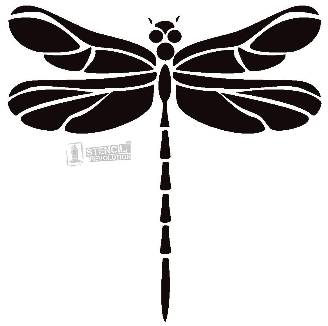 graphic relating to Dragonfly Template Printable called Dragonfly Stencil Stencils Printable stencil routines