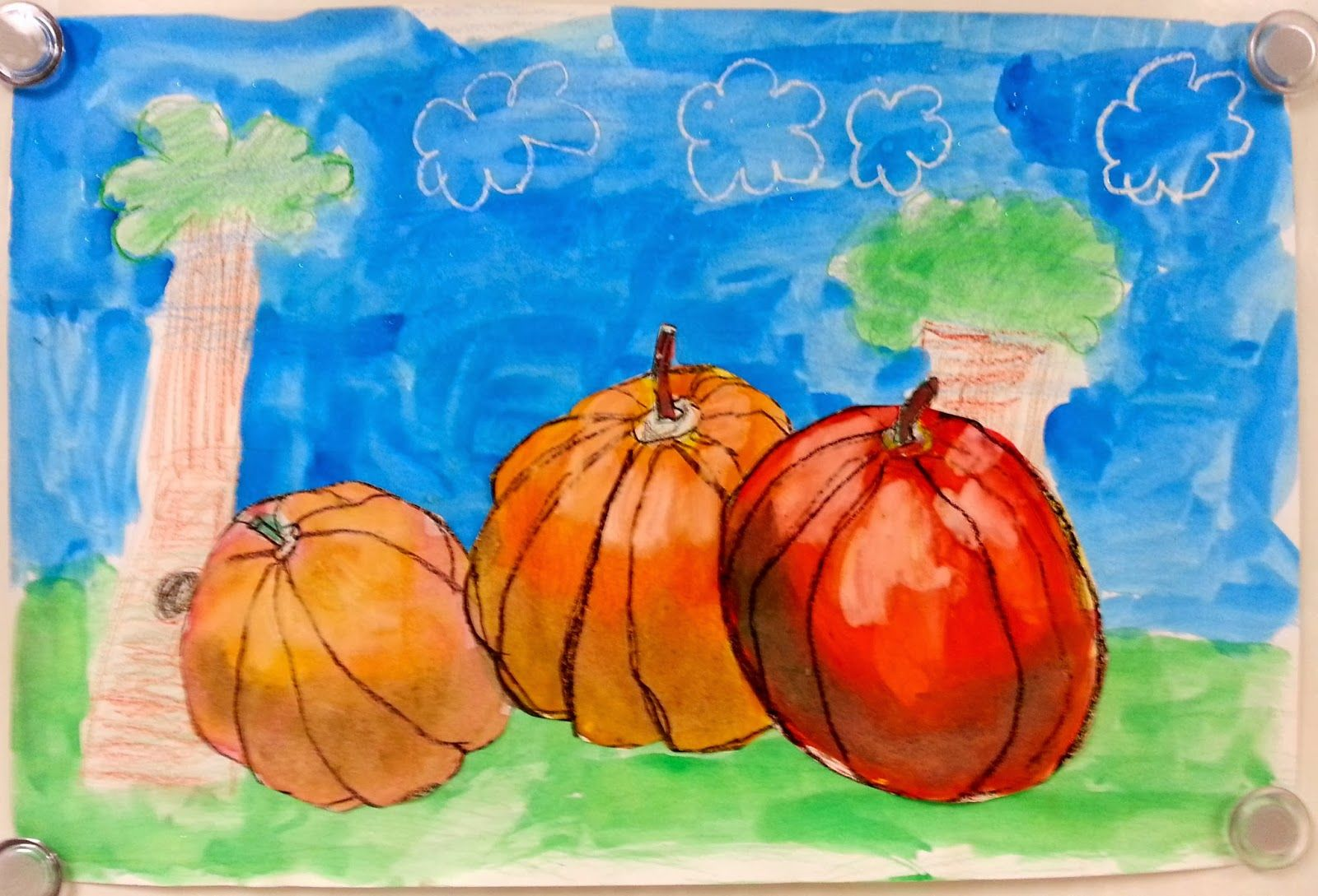 Art with Ms. Gram: New Value Pumpkins (3rd)