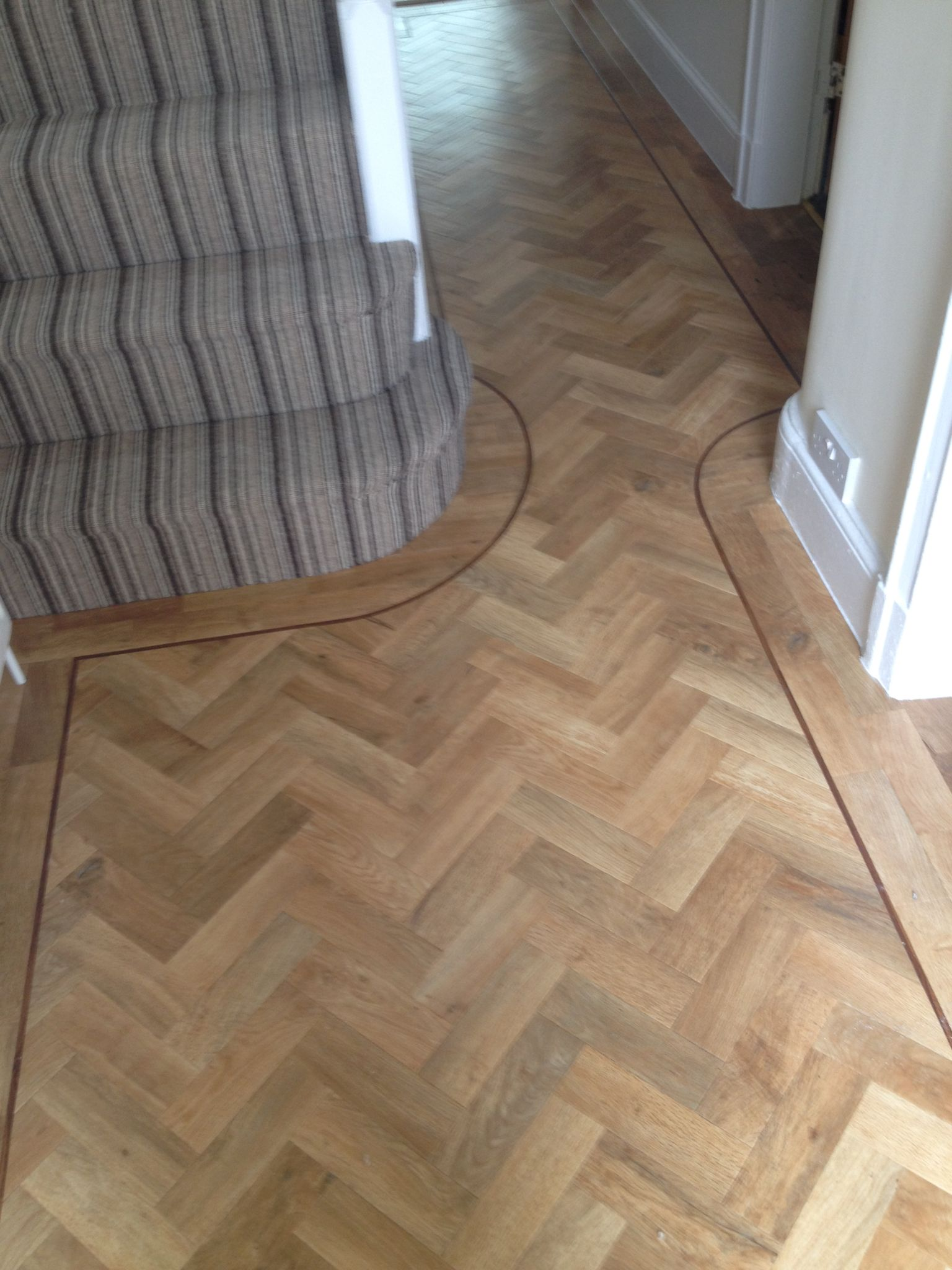 Telenzo Bakerloo Stripe Carpet with Karndean Parquet ...