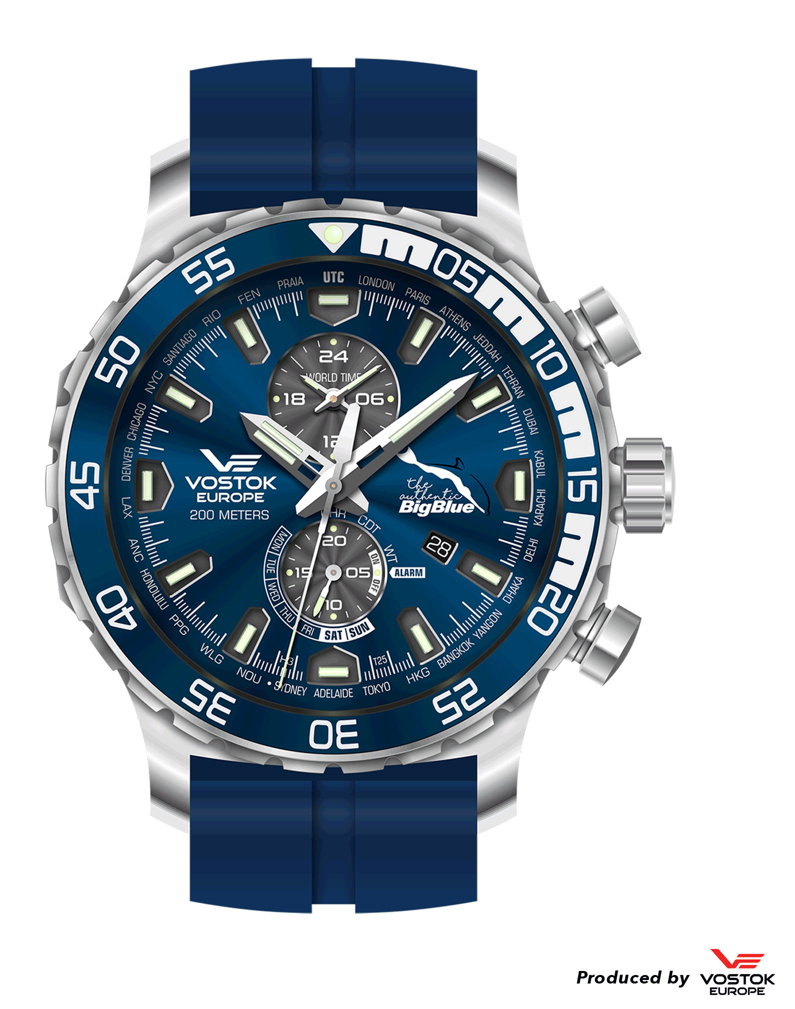 66f0fe69acf3 Anniversary Authentic Big Blue Watch by Vostok-Europe