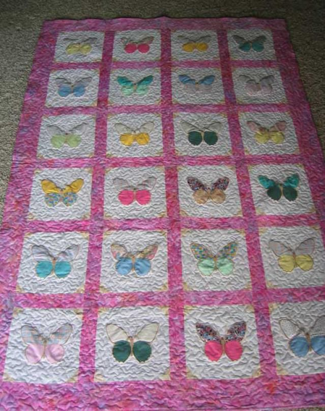 Pictures of Baby Quilts for Girls: Butterflies Abound Baby Quilt