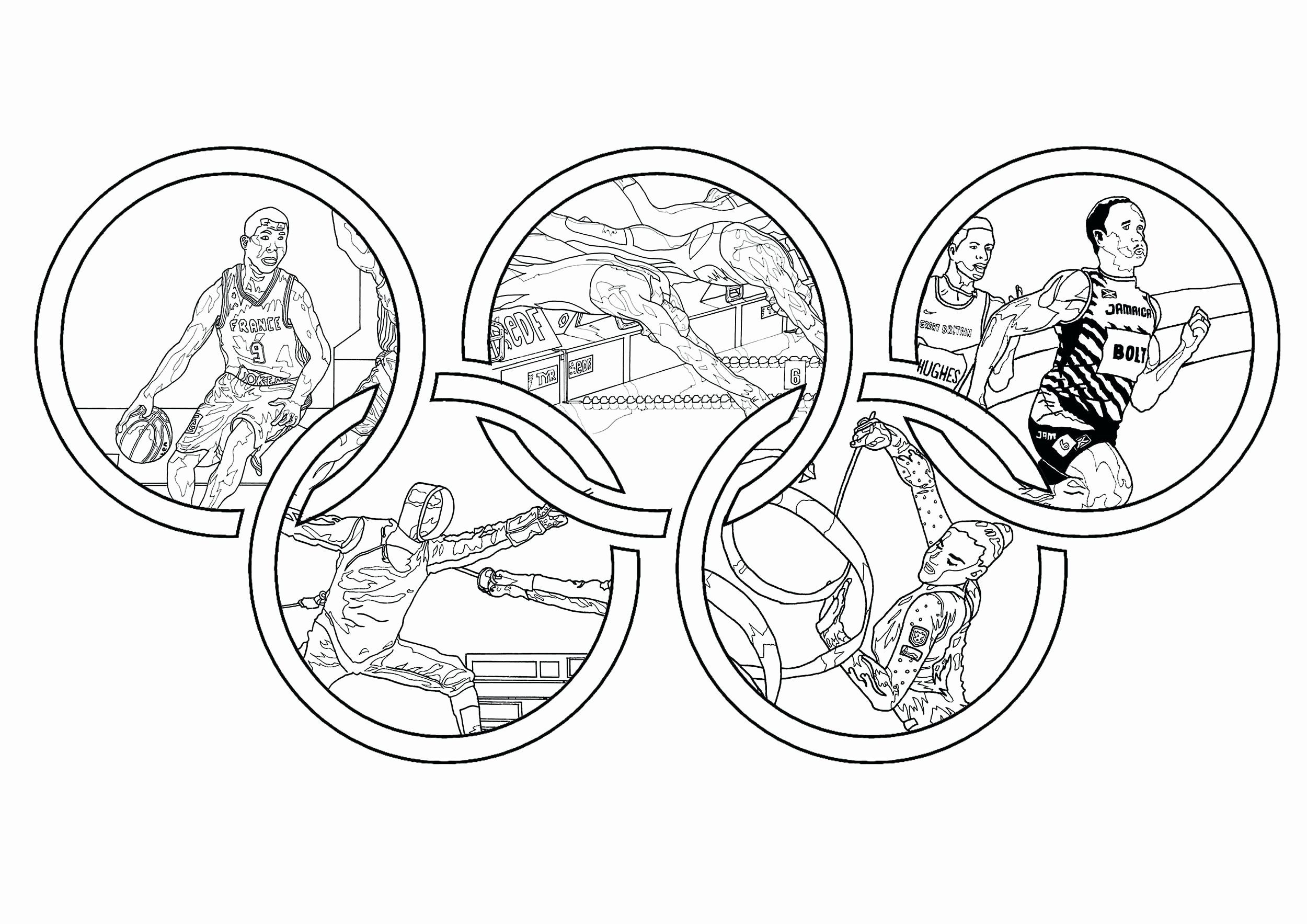 Sport Coloring Pages For Toddlers Unique Olympic Rings
