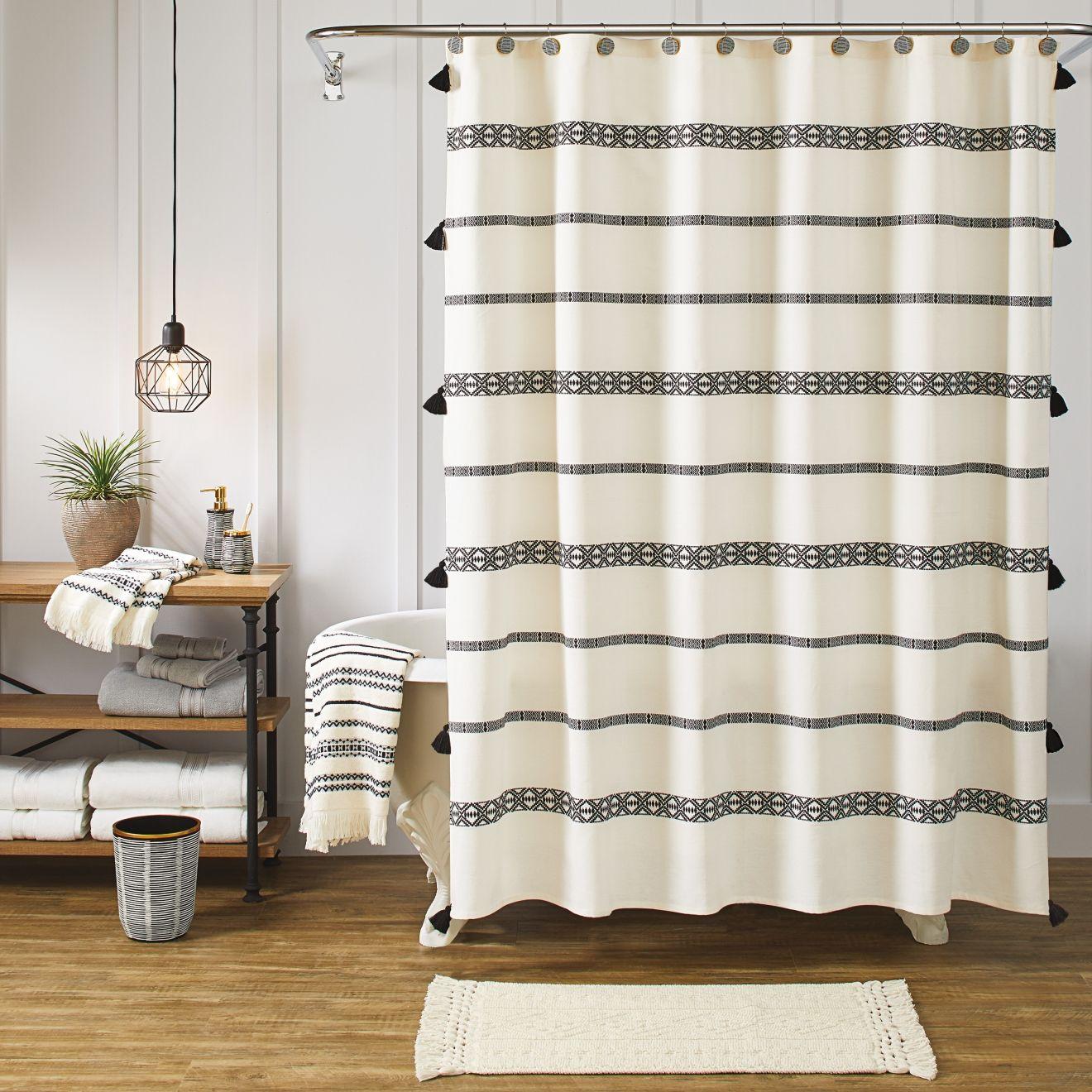 farmhouse shower curtain walmart