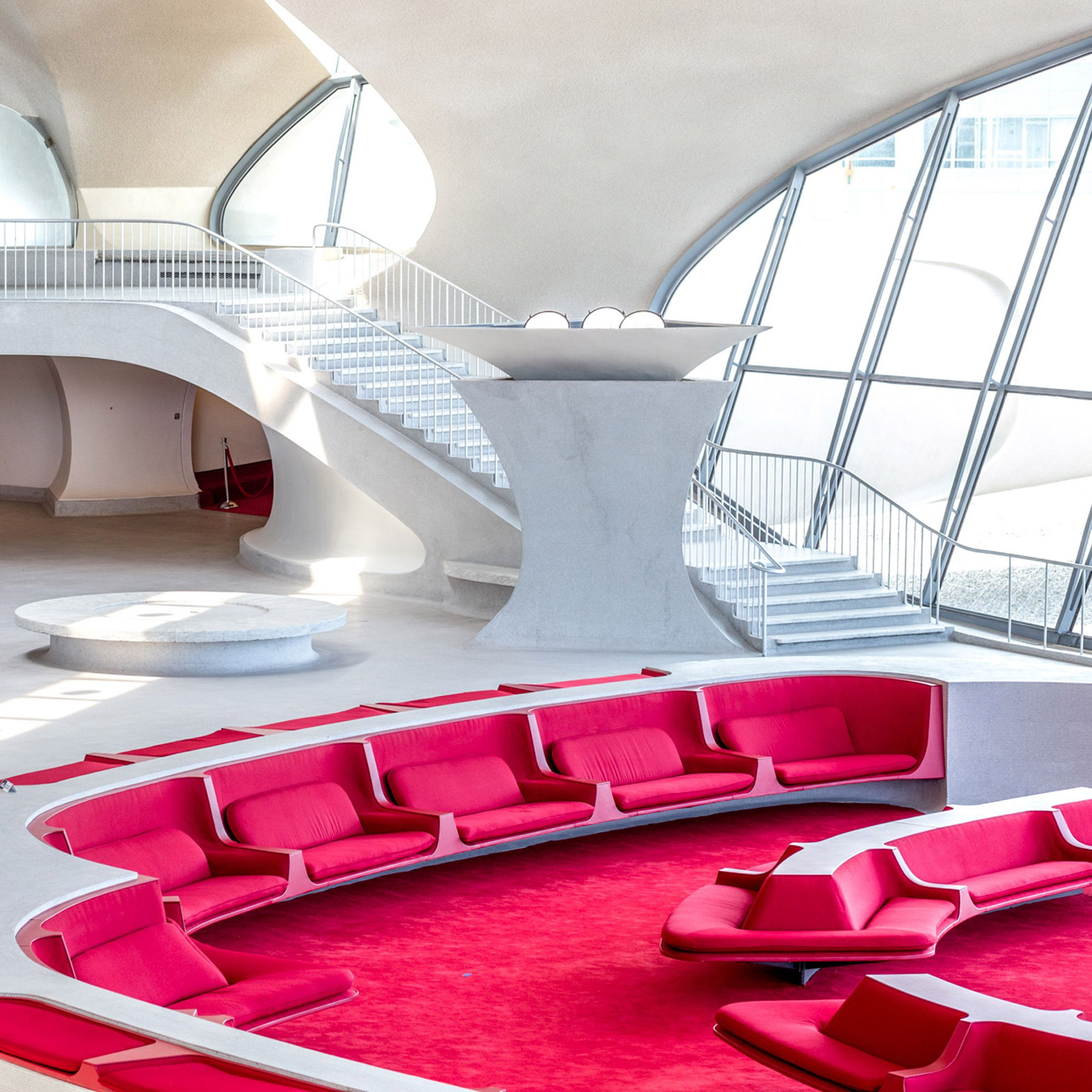 TWA Hotel Inside Eero Saarinen's JFK Airport Terminal