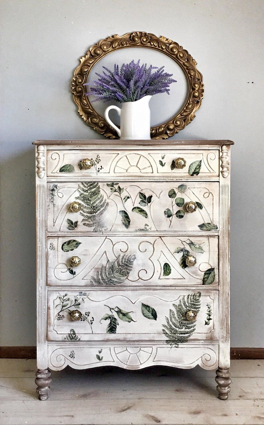 Here Kim Used Our Fern Woods Decor Transfer On This