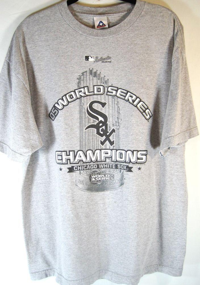 Chicago White Sox Men Baseball Champion T-Shirt Size XL Gray.  PPP 27 #ChicagoWhiteSox