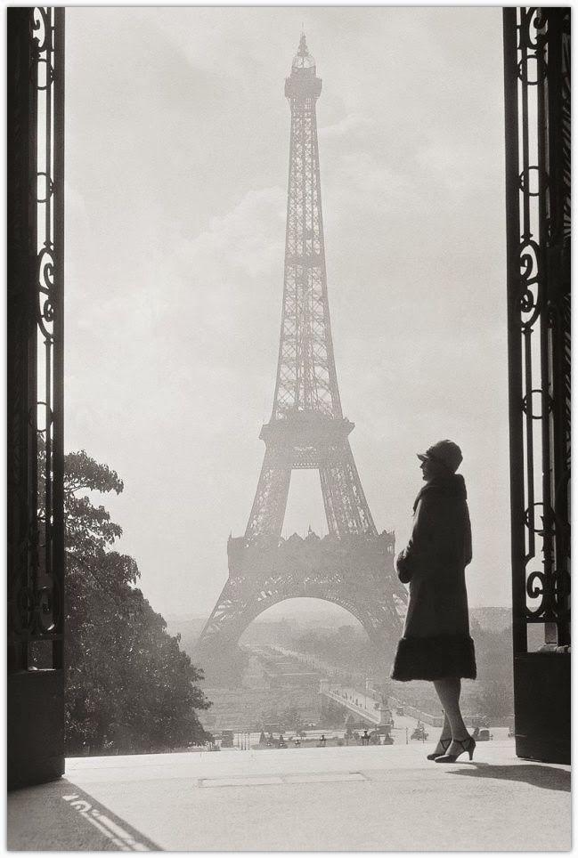 Art symphony vintage black and white photos of paris