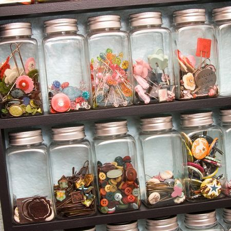 I love glass jar storage!