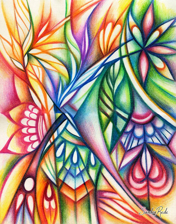Абстрактные картинки карандашом