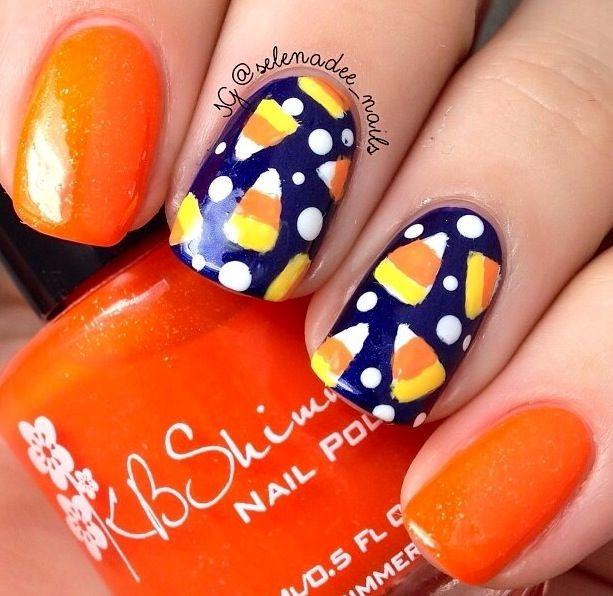 Candy Corn | Candy corn nails, Fall nail art designs, Cute ...