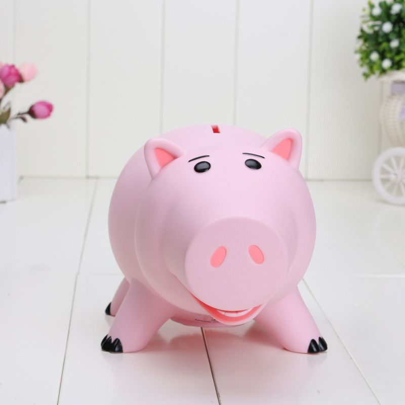Disney Toy Story Hamm Piggy Bank Pink Pig Coin Box Pvc Model Animal Toys For Children Action Figures Kids Birthday Gift