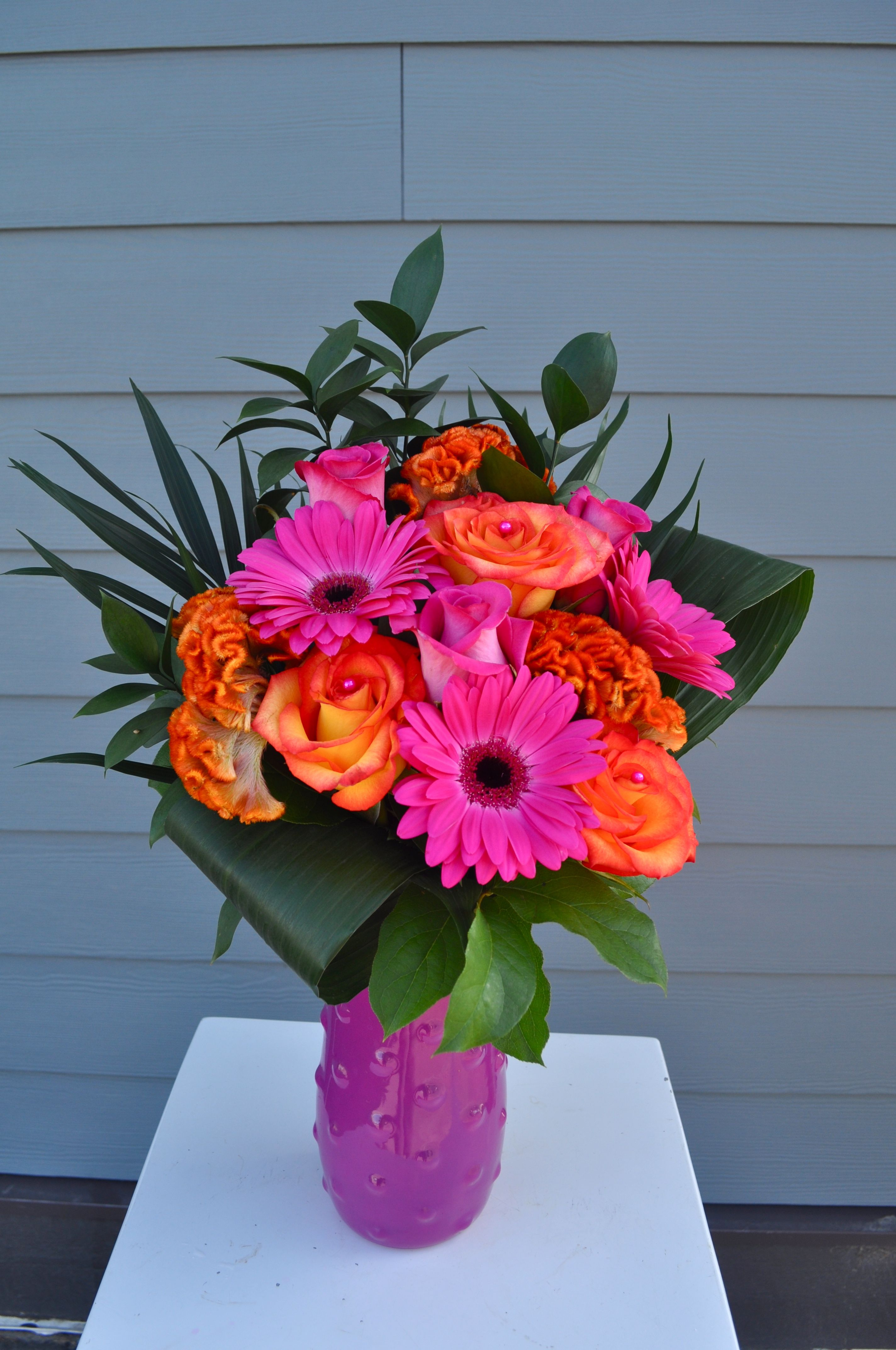 Cheerful Fall Arrangement Mothers day flowers