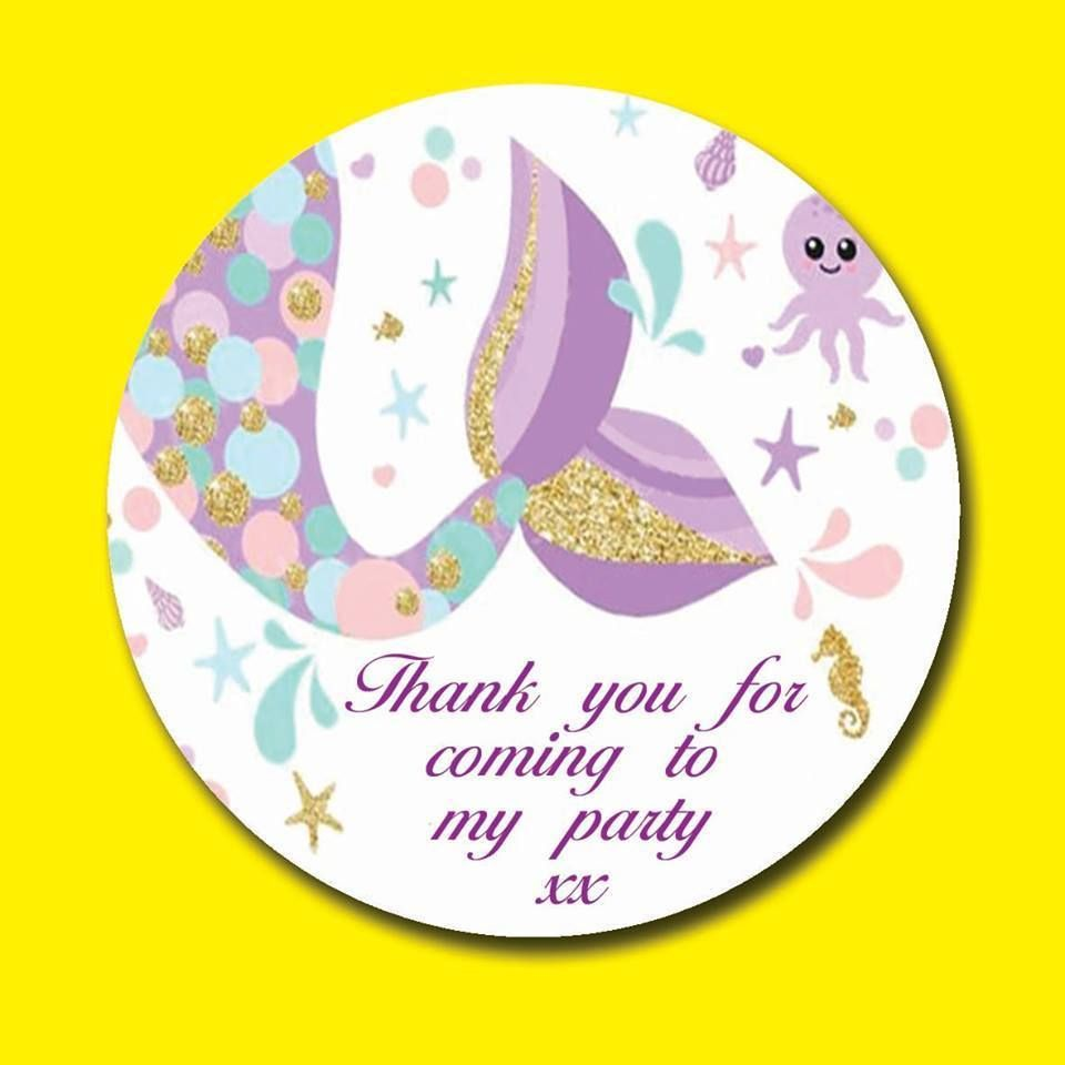 Personalised Round Baby Shower Girl Party Sweet Bags Stickers Labels Seals Cones
