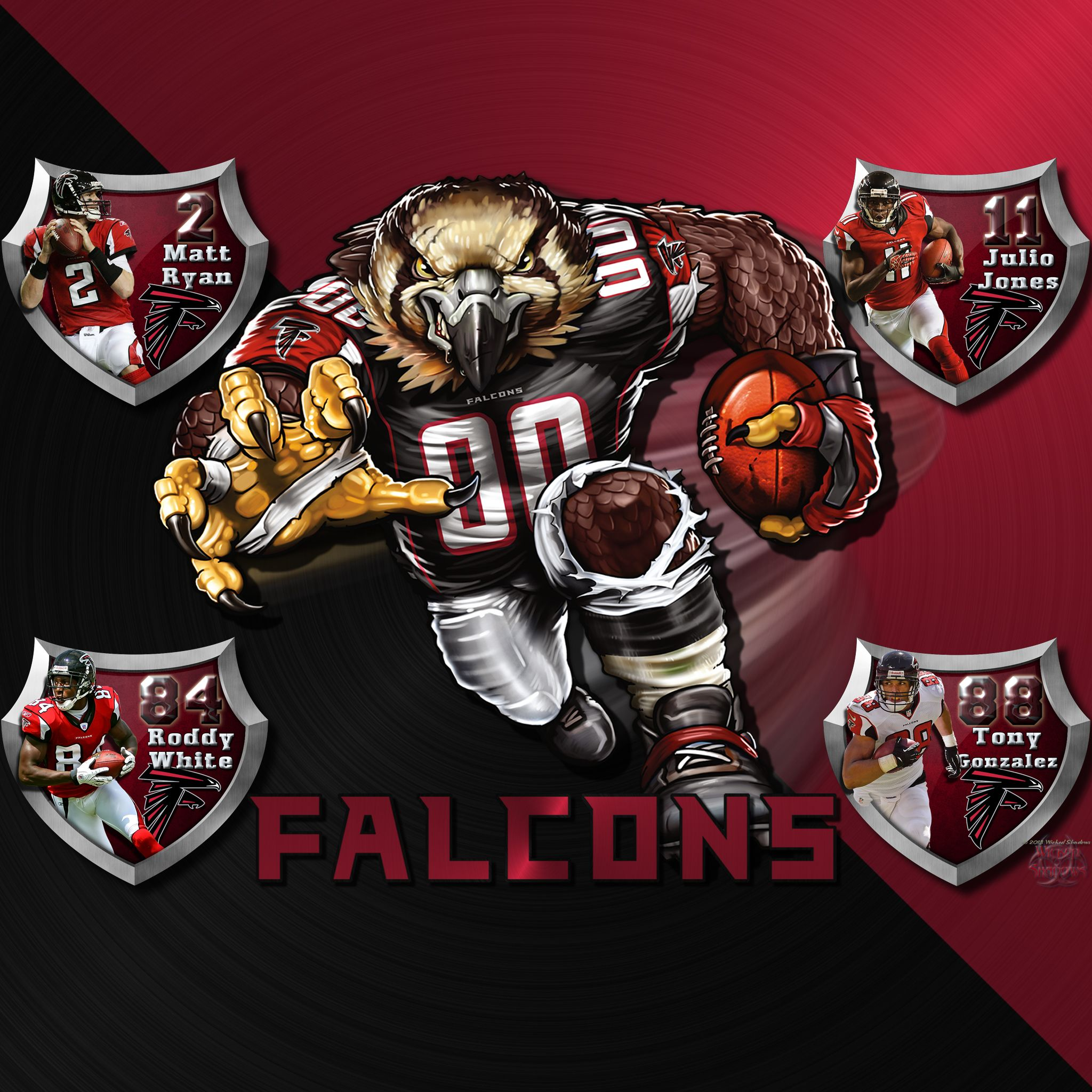 Atlanta Falcons Logo Wallpaper Iphone Ipod Touch Ipad Android Universal Tablet Atlanta Falcons Logo Atlanta Falcons Wallpaper Falcons