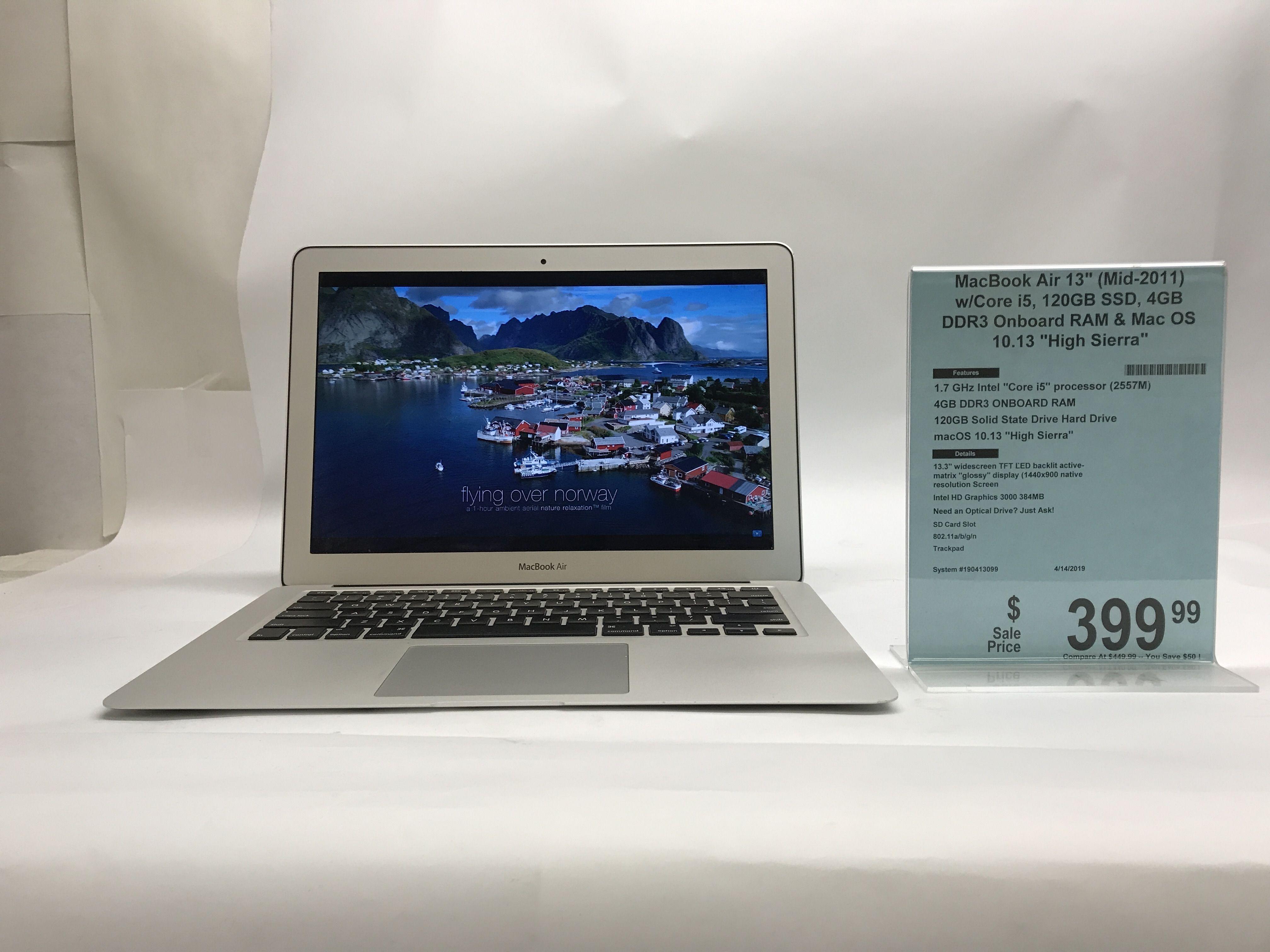 Great deal down at Action Computers, Inc.! Macbook Air at