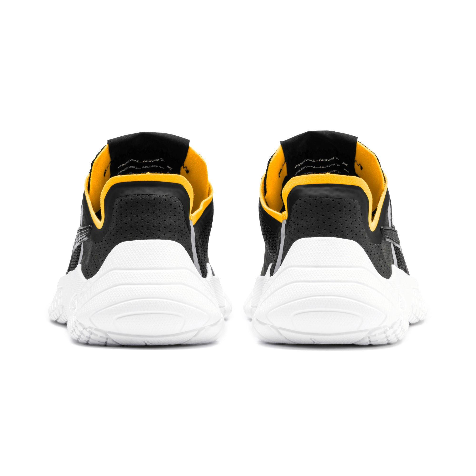 Photo of PUMA Pirelli Replicat-X Trainers,  Black/White/Zinnia, size 6.5, Shoes