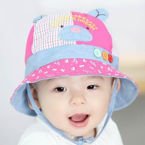 d0d6c4b5e47 Cute bear bucket hats with ears for kids cartoon animal sun hat cheap