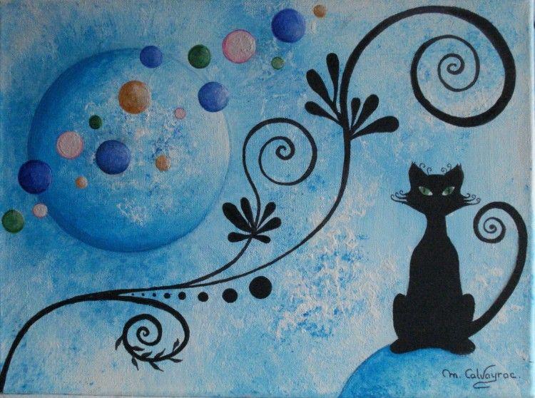 Martine calvayrac 2014 tr s jolie - Tableau de chat moderne ...