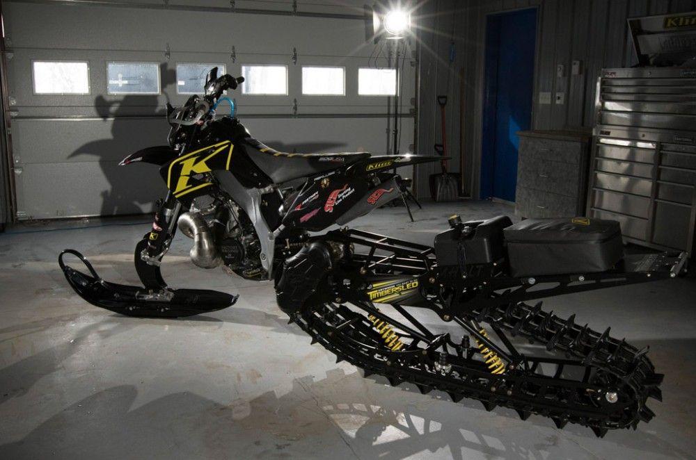 Klim Timbersled Snowbike Profile Snowbike Adventure Bike Kawasaki Dirt Bikes