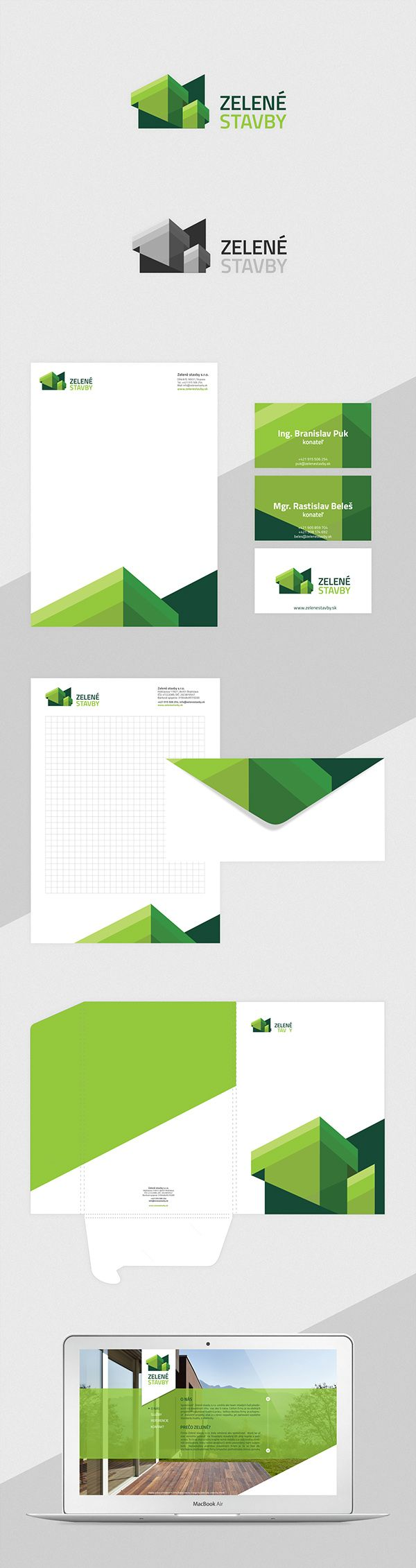 Corporate Identity for Building Construction Company on Behance ...