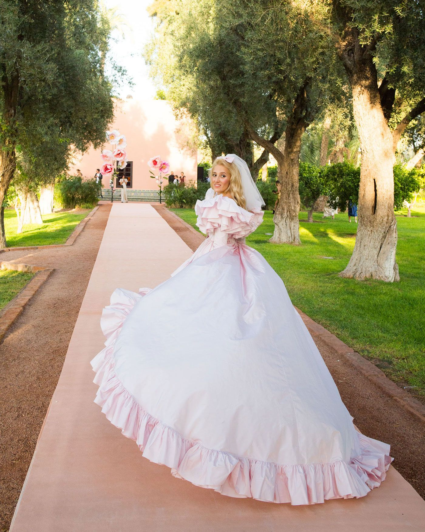Vasilisa Michael Ruffle Wedding Dress Wedding Dresses Blush