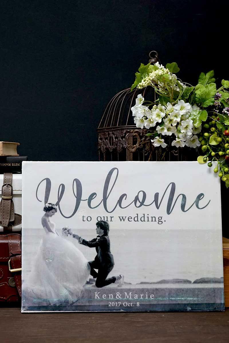 キャンバスに写真転写!?手作りおしゃれウェルカムボードの作り方 | ARCH DAYSウェルカムスペース ウェルカムボード 作り方動画 装飾アイテム / WEDDING | ARCH DAYS