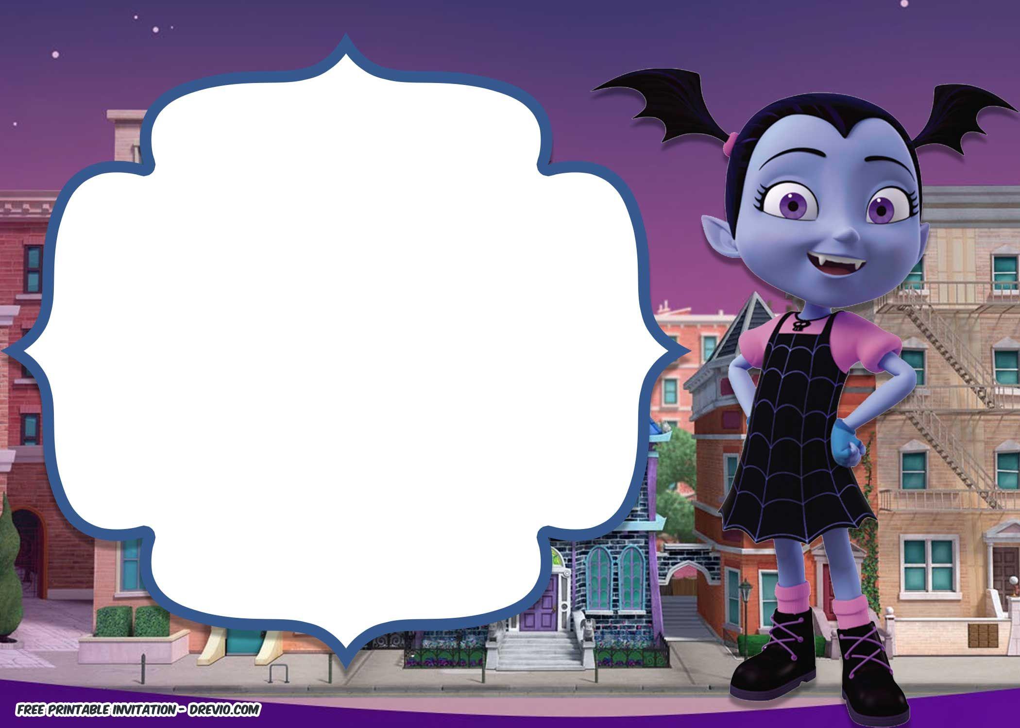 Disney Vampirina Birthday Invitation Template Invitaciones