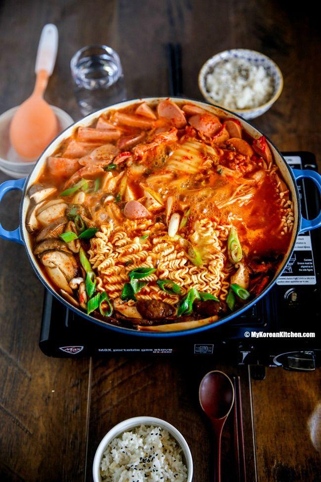 Budae Jjigae Army Stew Recipe Korean Side Dishes South Korean Food Recipes