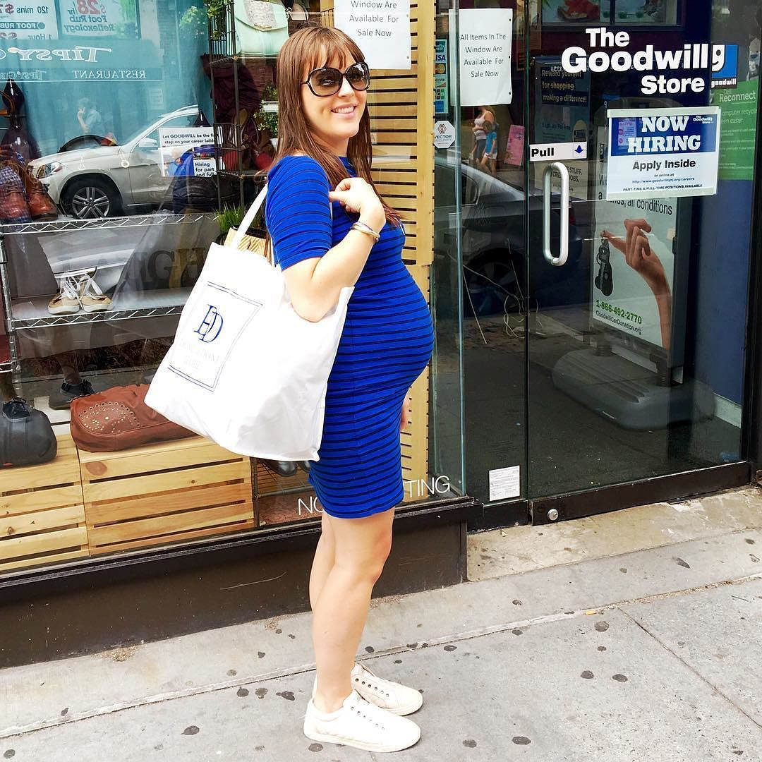 Seven months pregnant and still hauling donations to GoodWill!  #sevenmonths #75days #donations #goodwill #workinghard #organizing #purging #decluttering