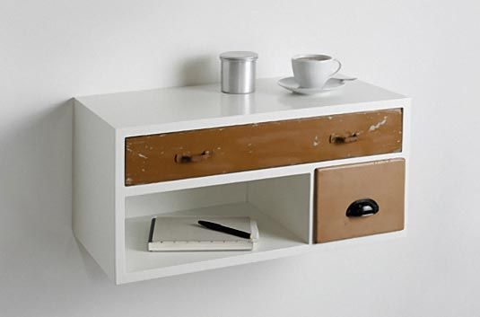 diy wall mounted drawer for bedside table one the wall. Black Bedroom Furniture Sets. Home Design Ideas