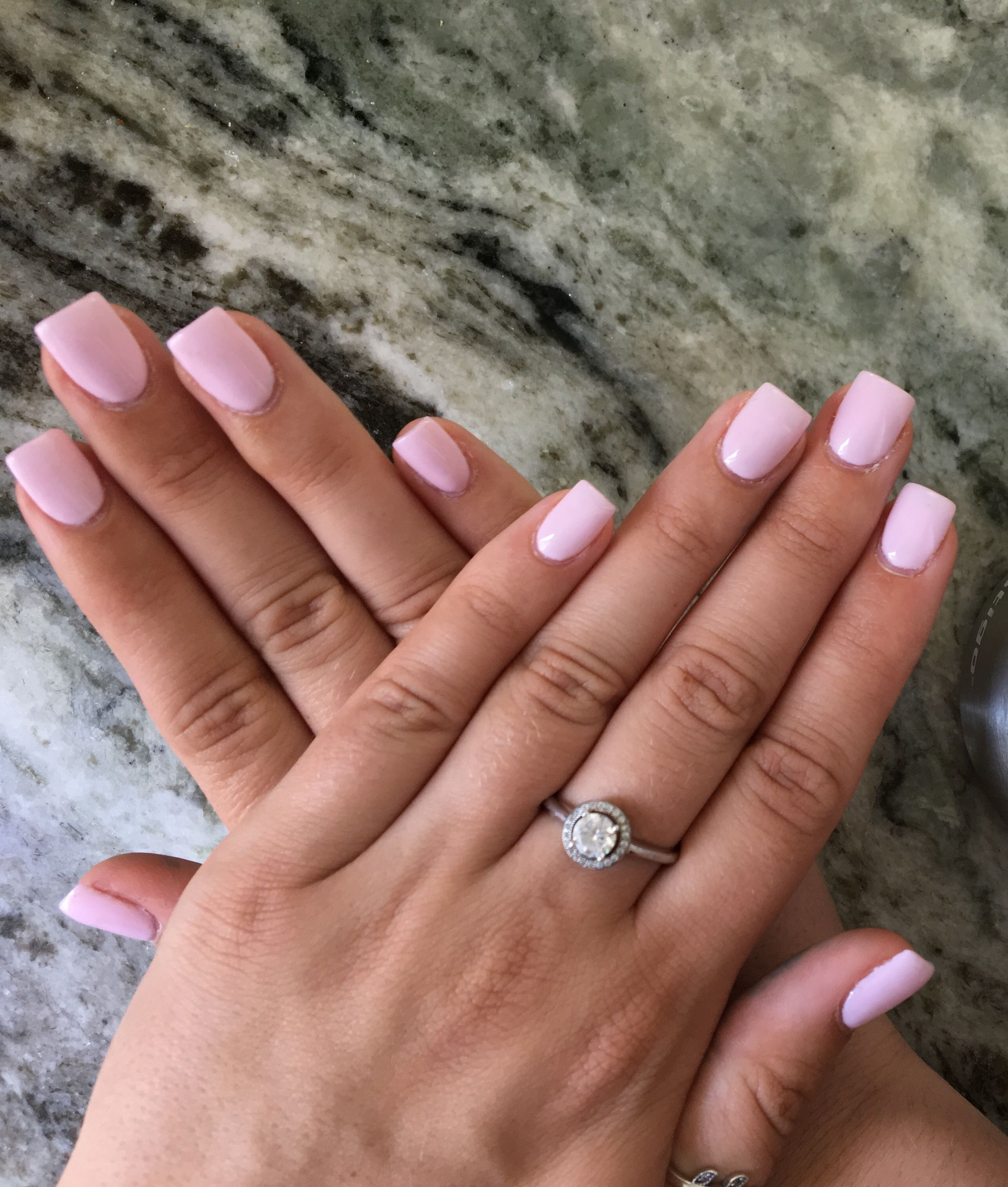 opi pink acrylic nails square shape | Nails | Pinterest