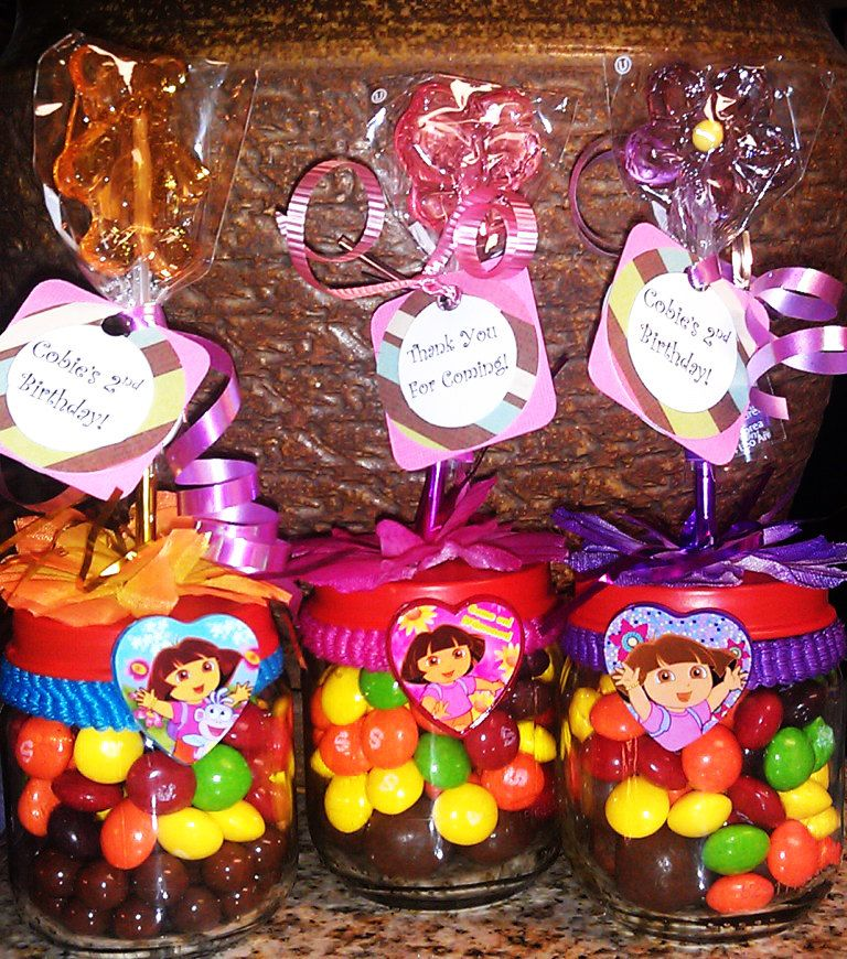 Dora Baby Food Jar Party Favors Birthday party Baby shower Dora