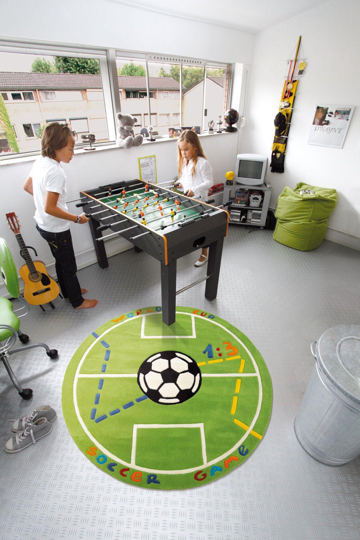 Arte Espina #Voetbalkleed Goal Sportief #Jongenskamer Vloerkleed, Perfect Voor Jonge