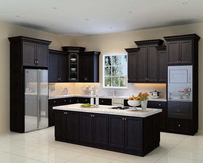 Modern Design Wooden Kitchen styles island | Luxury ...