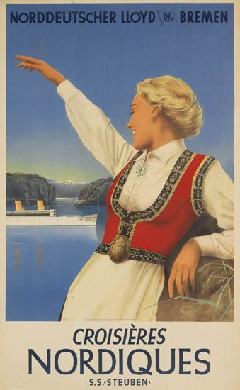 Norddeutscher Lloyd Bremen - Croisières nordiques - 1938 -