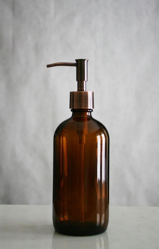 Market Amber Glass Soap Dispenser Met Afbeeldingen Badkamer