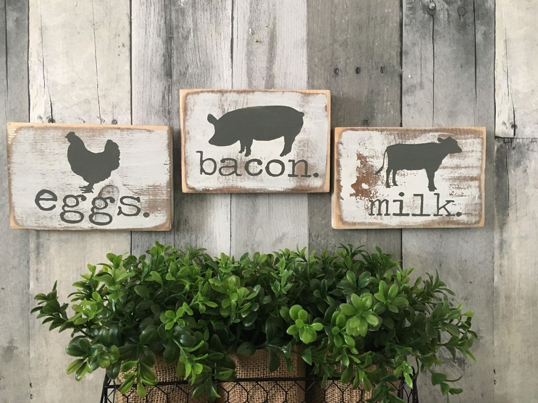 Farmhouse Kitchen Decor Farmhouse Animals Cow Pig Chicken Etsy Farmhouse Kitchen Signs Kitchen Decor Sets Farmhouse Kitchen Decor
