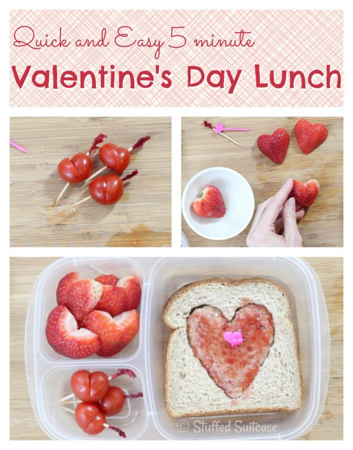 Quick And Easy Valentine S Day School Lunch Ideas Valentines Day Food Kids Lunch For School Valentines Snacks