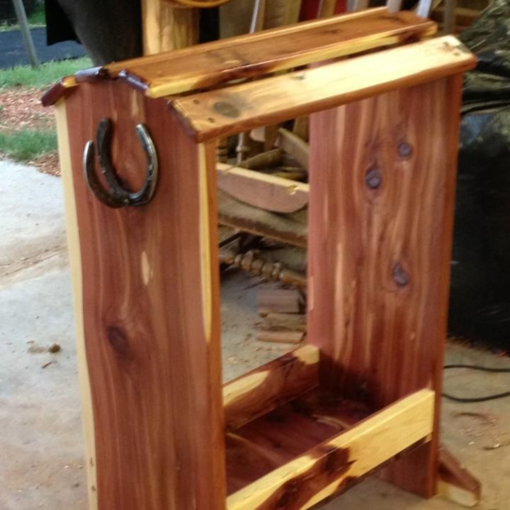 Homemade Saddle Rack | woodworking and shop ideas | Pinterest .