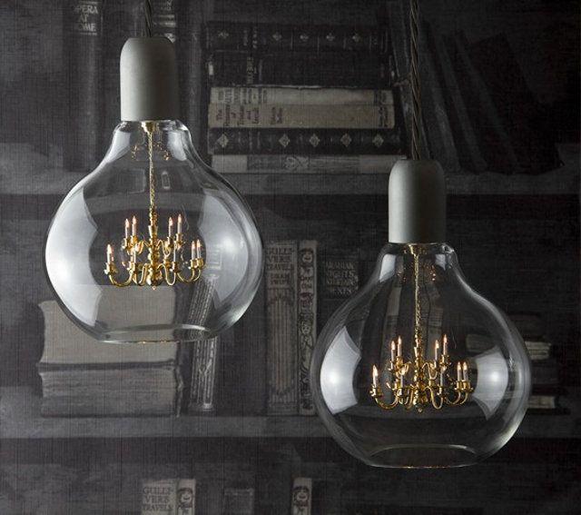 Un chandelier dans une ampoule | Light bulb, Bulbs and Chandeliers