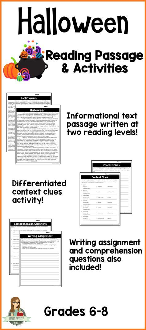 Halloween Differentiated Informational Text Reading Passage - halloween writing ideas