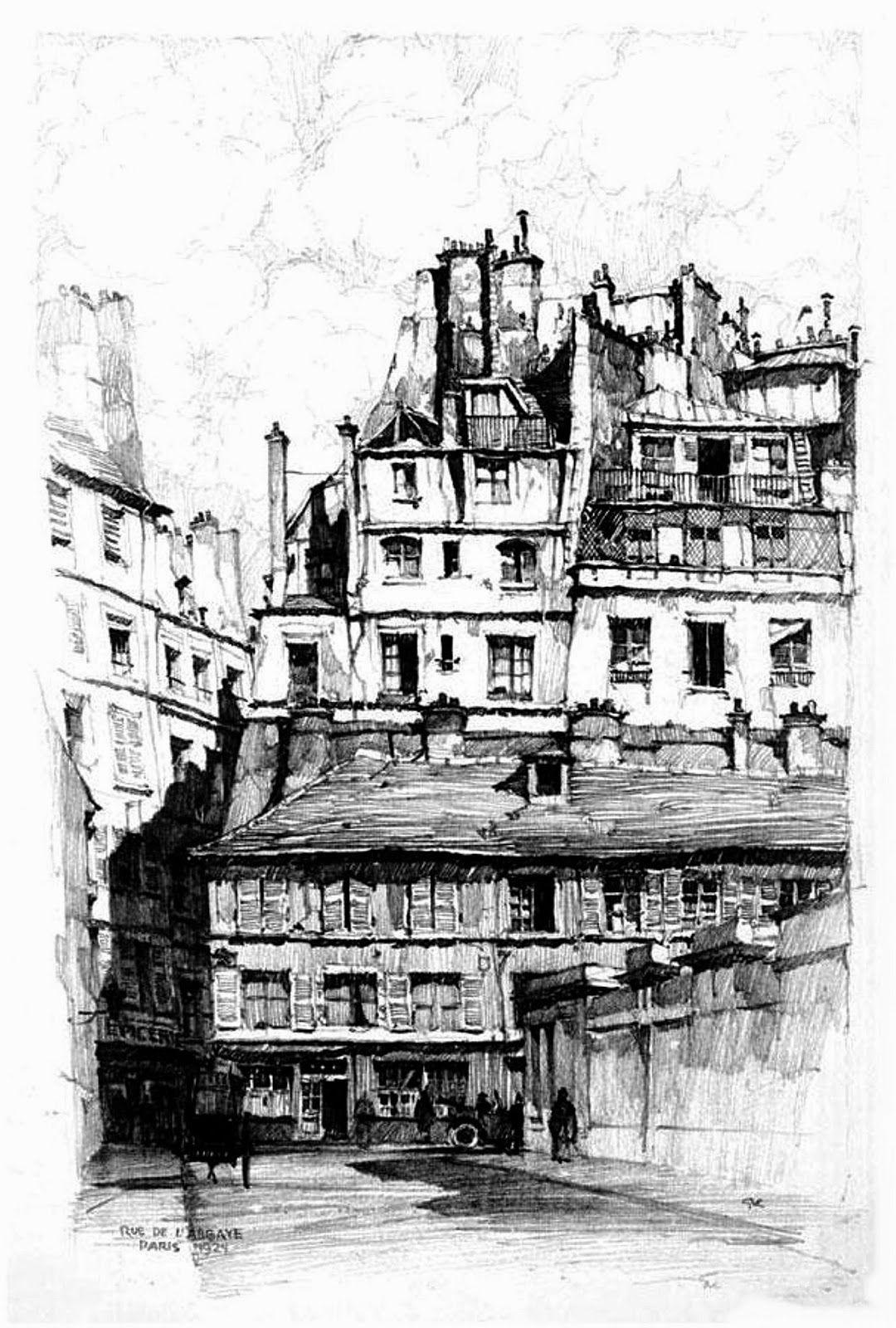 Samuel Chamberlain 1895 1975 American Rue De L Abbaye Paris