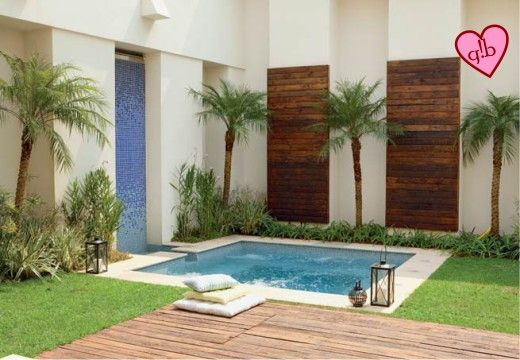 Piscinas para áreas pequenas Small pool ideas, Outdoor spaces and
