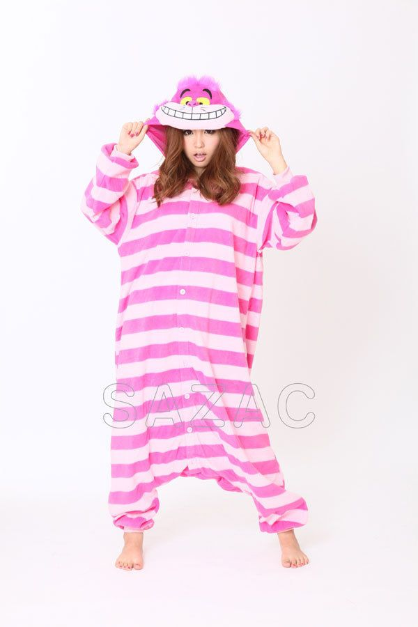 disney fleece pyjama kigurumi kost m grinsekatze alice. Black Bedroom Furniture Sets. Home Design Ideas